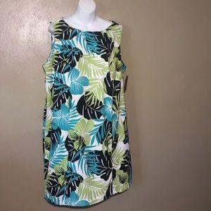 Kim Rogers multicolored flowered dress size 20W